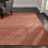 Crate & Barrel Tochi Coral Orange Rug