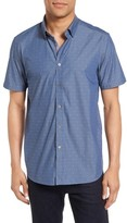 Ted Baker Men's Leeo Extra Slim Fit Chambray Sport Shirt