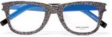 Saint Laurent Square-frame Glittered Acetate Optical Glasses - one size