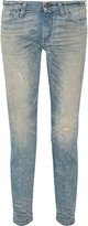 Simon Miller Highland distressed low-rise slim-leg jeans