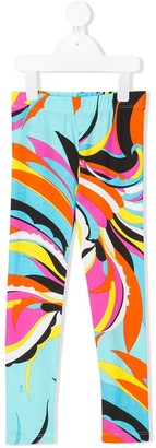 Emilio Pucci Junior Abstract Print Trousers