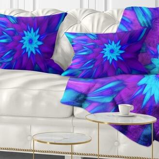 East Urban Home Floral Dance of Flower Petals Lumbar Pillow