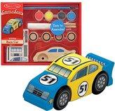 Melissa & Doug Decorate-Your-Own Wooden Race Car