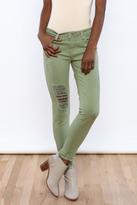 just black Olive Slit Jeans