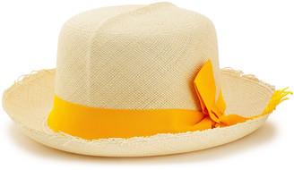 Sensi Bow-embellished Frayed Toquilla Straw Sun Hat