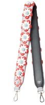 Fendi Strap You floral-appliqué leather bag strap