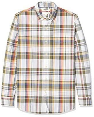 Goodthreads Men's Standard Slim-Fit Long-Sleeve Madras Shirt,XXX-Large