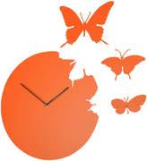 Diamantini Domeniconi Diamantini & Domeniconi - Large Butterfly Wall Clock - Orange