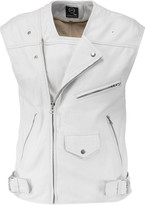 McQ by Alexander McQueen Coated cracked-leather vest