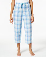 Charter Club Cotton Plaid Cropped Pajama Pants, Created for Macy's