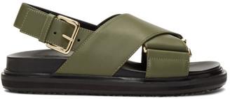 Marni Green Fussbett Sandals