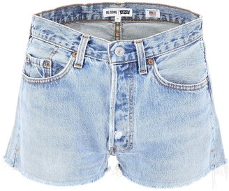 RE/DONE Distressed Mini Shorts