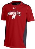 Under Armour Boys 8-20 Wisconsin Badgers Colorblock Tech Tee