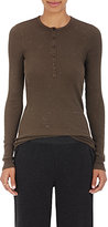 ATM Anthony Thomas Melillo Women's Ribbed Cotton-Blend Henley