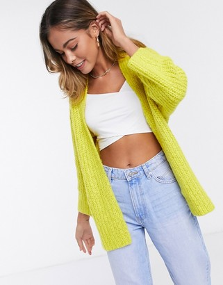 JDY romes relaxed cardigan in yellow