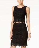 Amy Byer Juniors' 2-Pc. Lace Sheath Dress