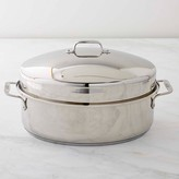 Williams-Sonoma All Clad Stainless-Steel Covered Oval Roaster