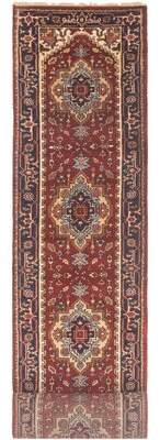Gerson Charlton Home One-of-a-Kind Runner Oriental Hand-Knotted 2.4' x 19.83' Wool Copper/Black/Ivory Area Rug Charlton Home