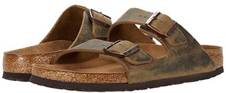 Birkenstock Arizona Soft Footbed (Mud Green Oiled Leather) Men's Sandals