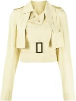 Rick Owens belted waist cropped jacket