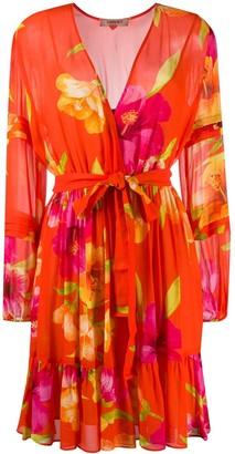 Twin-Set Twin Set floral print flared dress