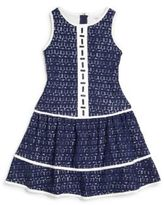 Hartstrings Girl's Bead-Front Lace Dress