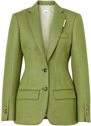 Burberry Double-Faced Neoprene Tailored Jacket