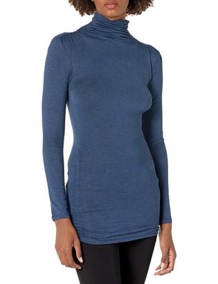Max Studio Women's Long Sleeve High Neck High Twist Jersey Top
