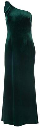 Brinker & Eliza One shoulder velvet gown