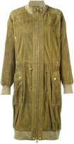Balmain lightweight parka - women - Cotton/Lamb Skin/Polyester/Viscose - 38