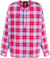 No.21 round neck checked shirt