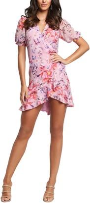 Bardot Lorita Floral Puff Sleeve Minidress