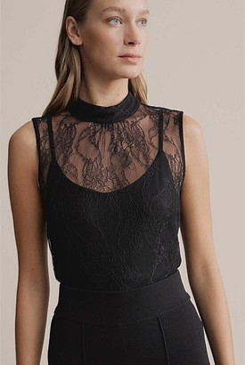 Witchery Lace High Neck Top