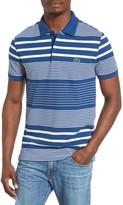 Lacoste Men's Stripe Pique Polo