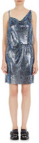 Paco Rabanne Women's Metal Mesh Draped-Front Dress-BLUE