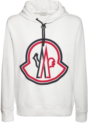 Moncler Maxi Logo Cotton Sweatshirt Hoodie