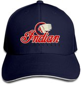 Fuerver Indian Motorcycles Symbol Value Logo Solid Colors Hat Sandwich Peaked Hats