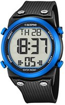 Calypso Unisex Digital Watch with LCD Dial Digital Display and Black Plastic Strap K5705/1