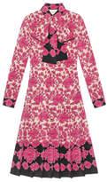 Gucci Porcelain Flower print silk dress