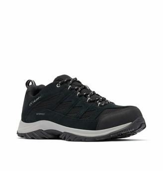 Columbia Men's Crestwood Waterproof Hiking Shoe Black Grey 11 Wide