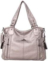 Angelkiss 2 Top Zippersulti Pockets Woen Handbags/Washed Leather Purses/Shoulder Bags 1193