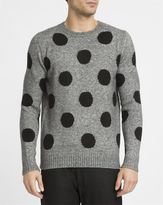 Eleven Paris Mottled-Grey Enoa Dots Sweater