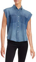 William Rast Akiko Chambray Button Tank