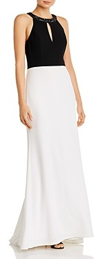 Aidan Mattox Color-Blocked Keyhole Gown - 100% Exclusive