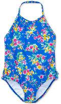 Ralph Lauren Floral-Print Swimsuit, Toddler & Little Girls (2T-6X)