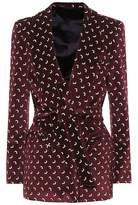Blazé Milano Printed velvet blazer