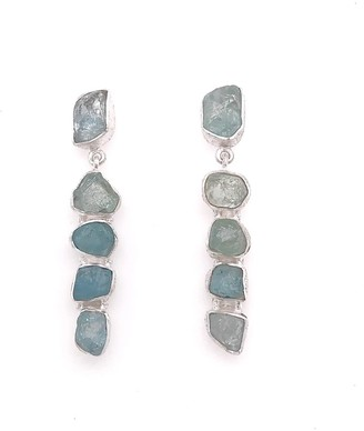 Gem Bazaar Jewellery Aquamarine 5 Stone Drops