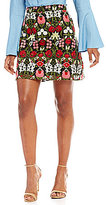 Lucy Paris Mariana Embroidered A-Line Skirt