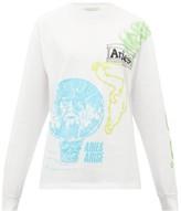 Aries French Monster Logo-print Cotton T-shirt - Womens - White Multi
