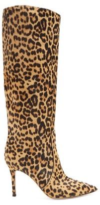 Gianvito Rossi Hunter 85 Leopard-print Knee-high Boots - Leopard